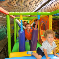 "Colasanti's Tropical Gardens Kids Kingdom Indoor Playground.  For Children Equal To And Under 46"" Tall.  Open Daily 10am-5pm"