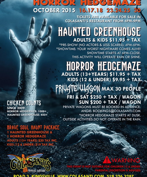 Haunted Greenhouse & Horror Hedgemaze Poster