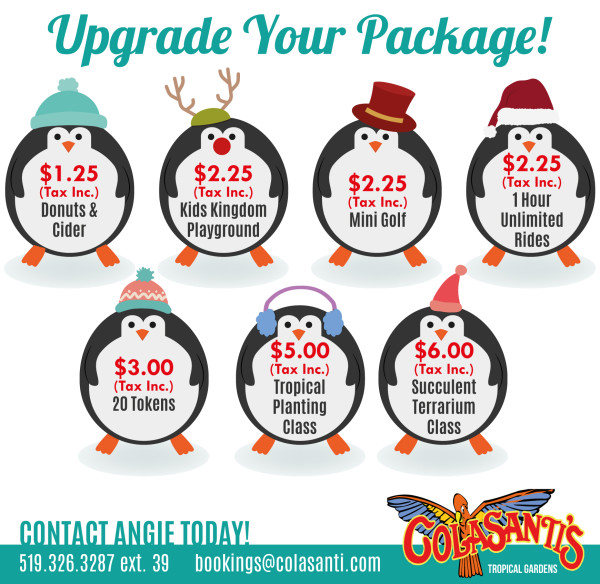 Colasanti's Winter Packages - Upgrades