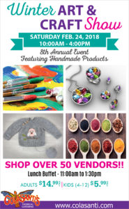 2018 Colasantis Winter Art & Craft Show Till Flyer