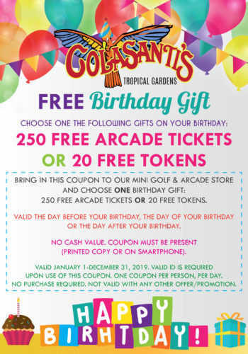 Colasantis Birthday Coupon