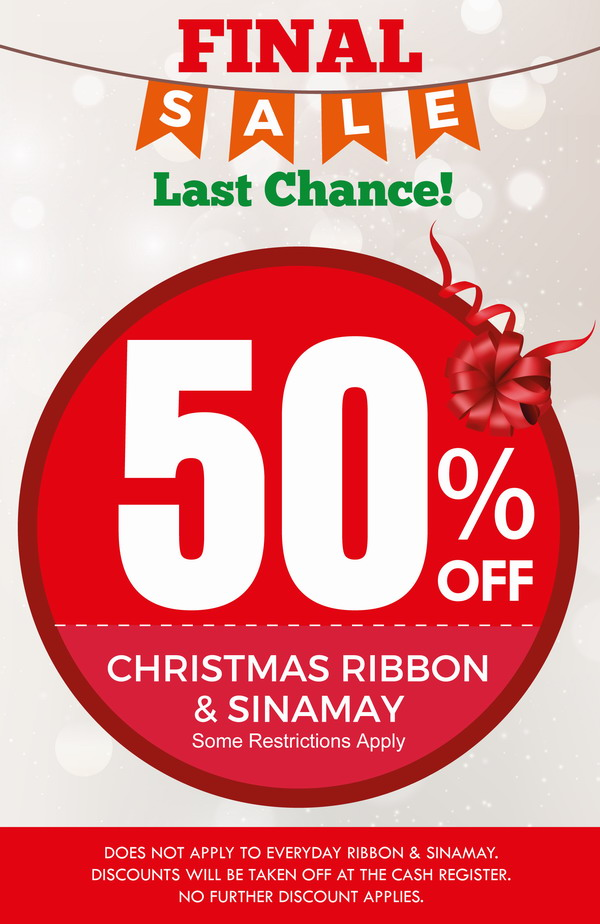 Final Christmas Sale 50% OFF - Ribbon, Colasanti's Tropical Gardens