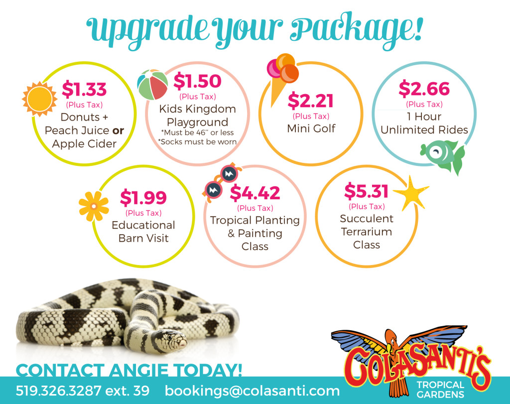 2016 May & June Field Trip Packages Colasanti's Tropical Gardens