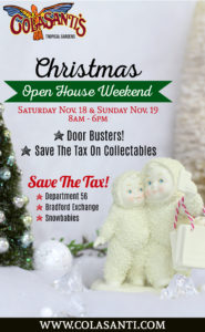 Christmas Open House Weekend at Colasanti's 2017