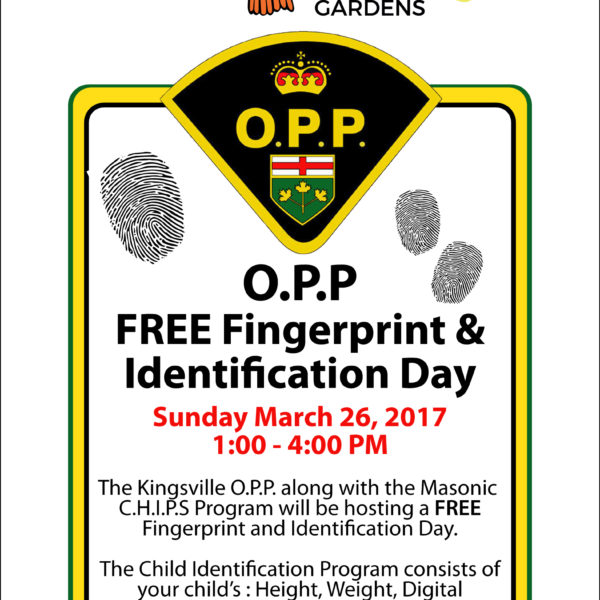 FREE Fingerprint and Identification day at Colasanti's