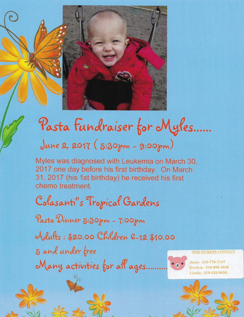 Pasta Dinner Fundraiser for Myles