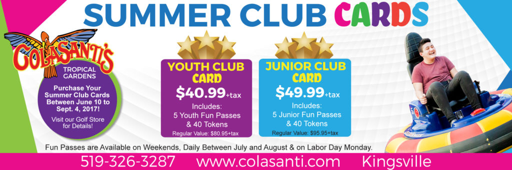 Colasanti's Summer Club Cards 2017