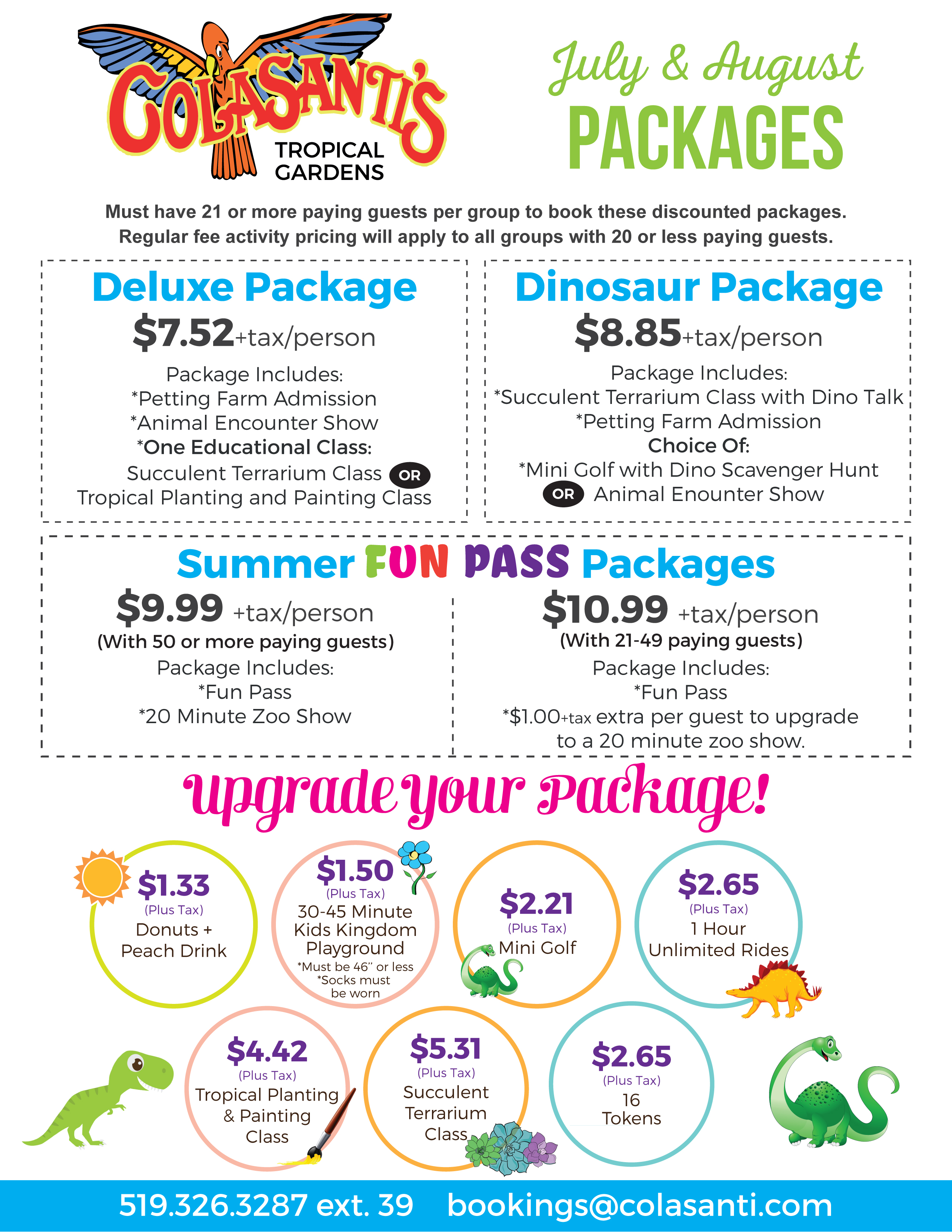 Summer 2017 Discount Packages