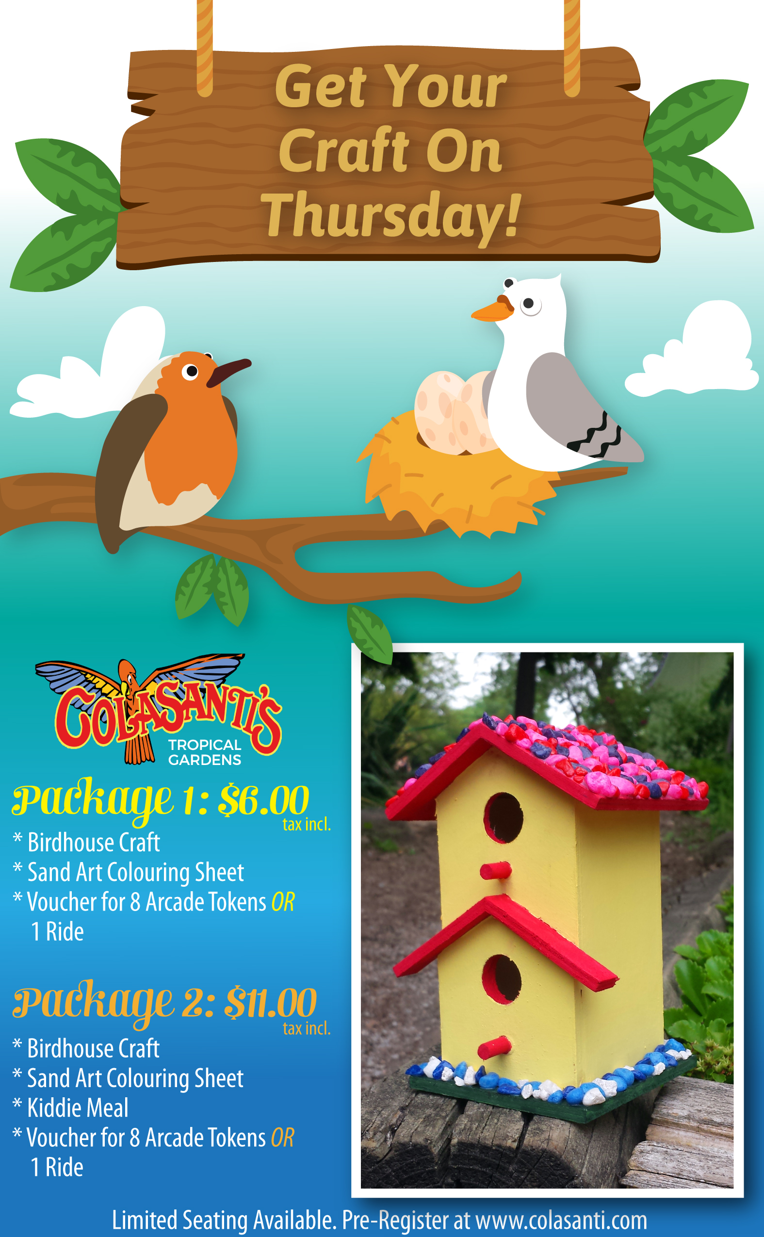 Colasanti's Tropical Gardens Get Your Craft On Thursdays