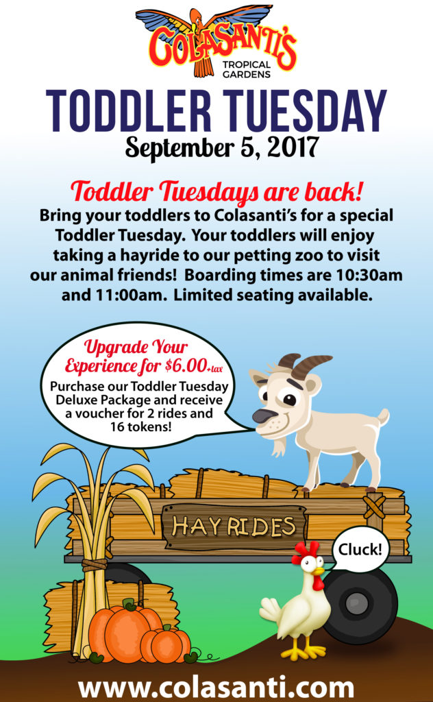 Colasanti's September 5, 2017 Toddler Tuesday