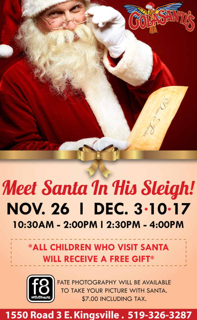 2017 Meet Santa In His Sleigh at Colasantis