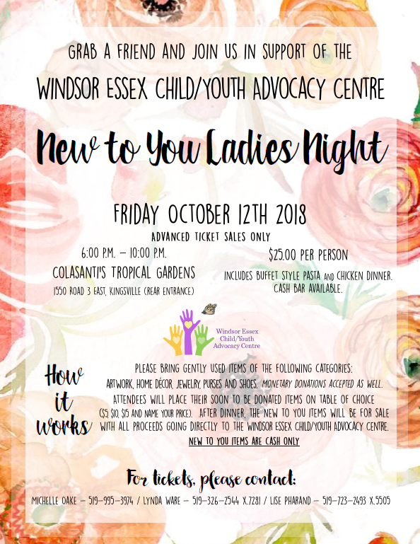 Windsor Essex Child Youth Advocacy Centre at Colasanti's