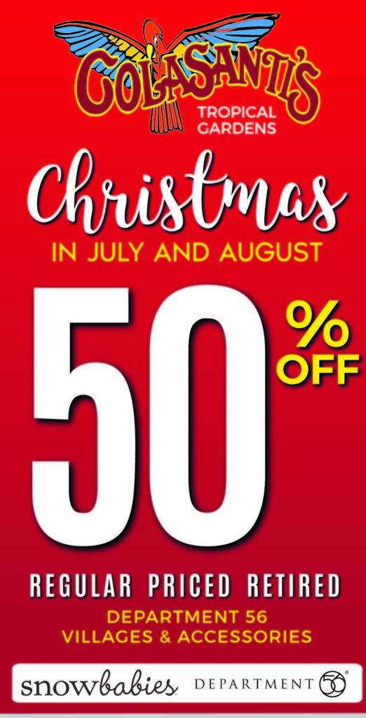 2019 Christmas in July and August Collectables Sale - Department 56 - Colasanti's